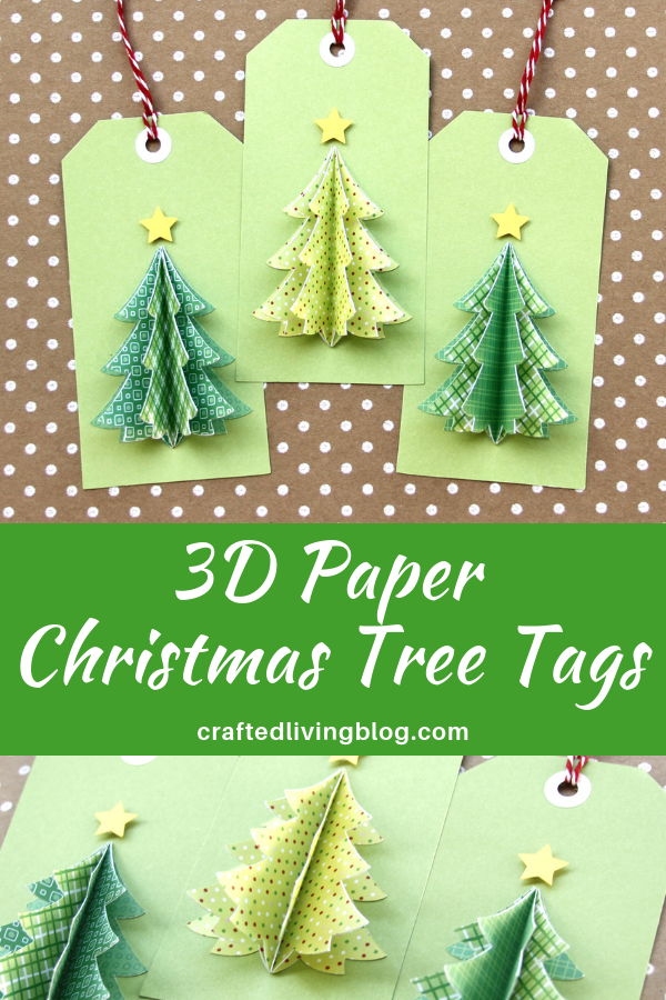 3d Paper Christmas Tree Template.3d Paper Christmas Tree Tags Crafted Living