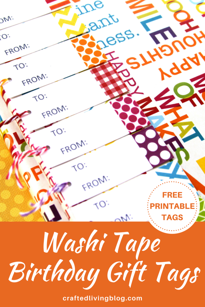image relating to Free Printable Birthday Gift Tags called Washi Tape Birthday Reward Tags Designed Dwelling